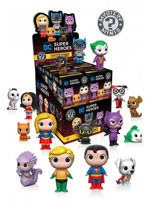 Figura Funko Mystery Minis Super Heroes DC & Pets