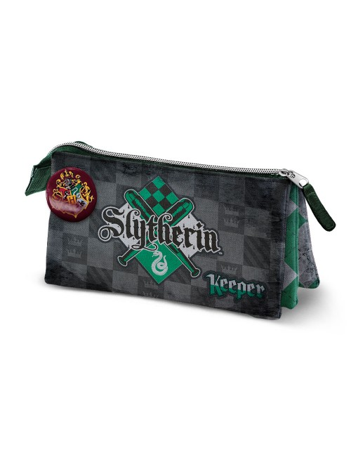 Estuche Triple Quidditch Slytherin - Harry Potter