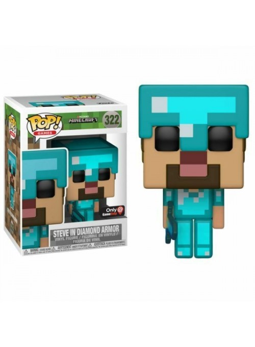 Figura Funko POP Steve in Diamond Armor - Minecraft