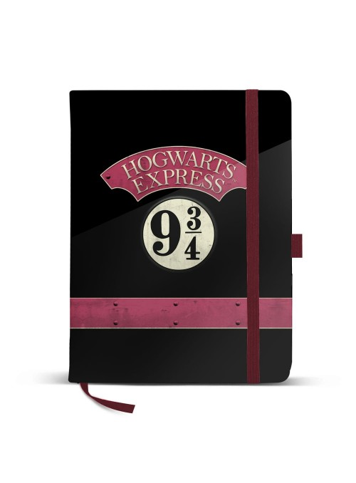 Libreta con goma Hogwarts Express 9 3/4 - Harry Potter