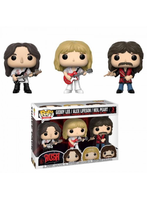 Pack de 3 Figura Funko POP Geddy, Alex & Neil - Rush