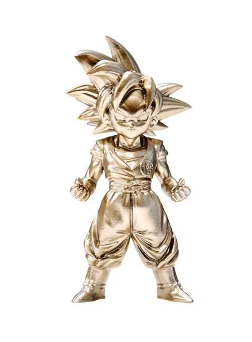 Mini Figura Super Saiyan God Son Goku 7 cm - Dragon Ball Z BTN