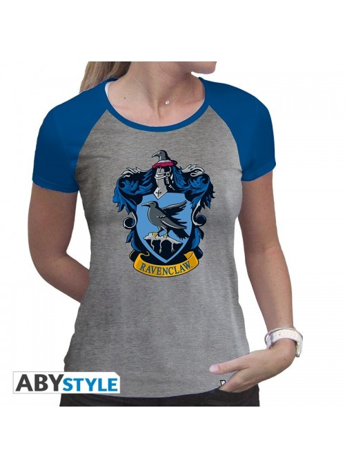 "Camiseta ""Ravenclaw"" mujer gris y azul - Harry Potter"