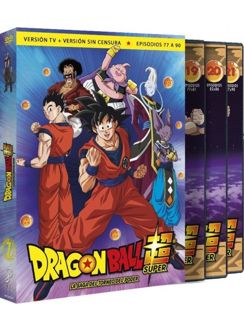 Dragon Ball Super Saga del Torneo de Poder. Box 7  DVD