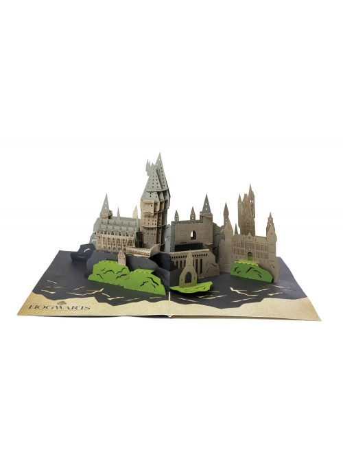 Tarjeta De Felicitación pop-up 3D castillo de Hogwarts - Harry Potter