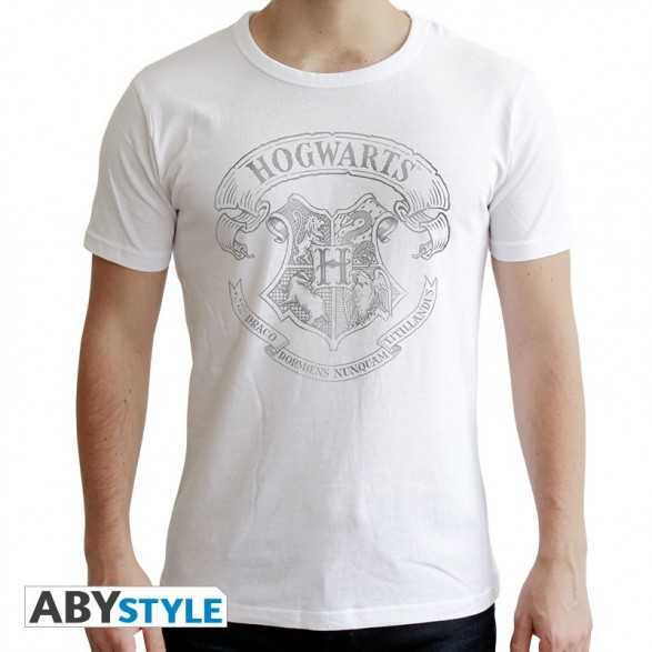 Camiseta Hogwarts blanca - Harry Potter