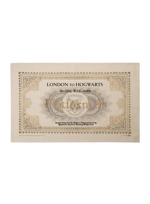 Toalla de té Hogwarts Express Ticket - Harry Potter