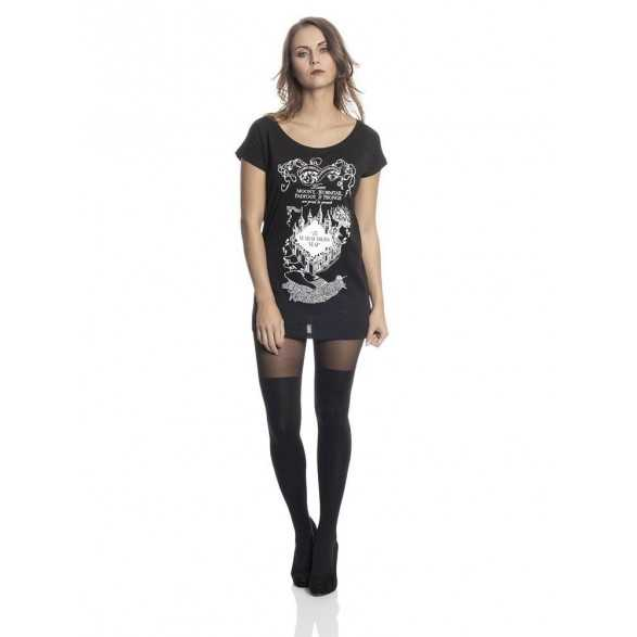 Camiseta Chica Loose Marauder's Map - Harry Potter
