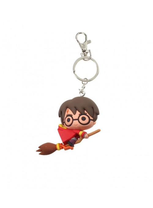 Llavero Goma Harry Potter Quidditch con escoba - Harry Potter