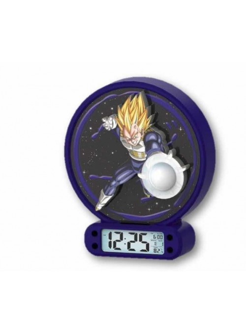 Reloj despertador con luz de Vegeta - Dragon Ball