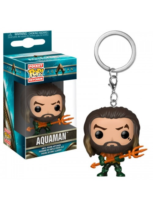Llavero Pocket Funko POP Aquaman Arthur Curry in Hero Suit - DC Comics