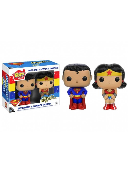 Salero y Pimentero Funko POP Superman & Wonder Woman - DC Comics