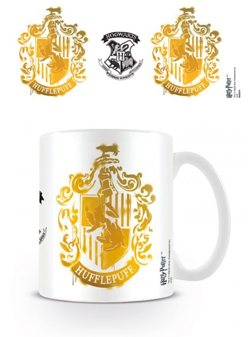 Taza Hufflepuff Stencil Crest - Harry Potter