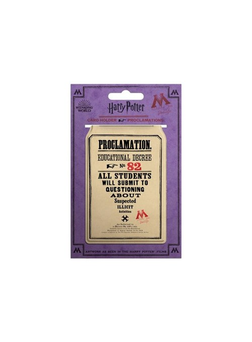 Tarjetero Proclamations - Harry Potter