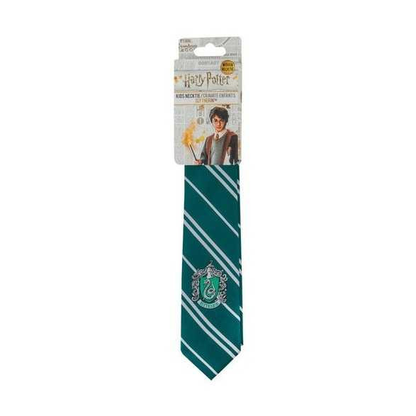 Corbata infantil Slytherin logo tejido - Harry Potter