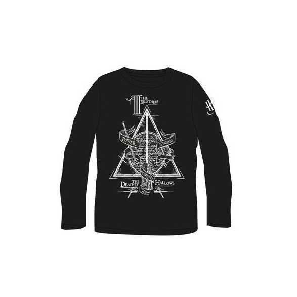 Camiseta manga larga Relíquias de la Muerte - Harry Potter