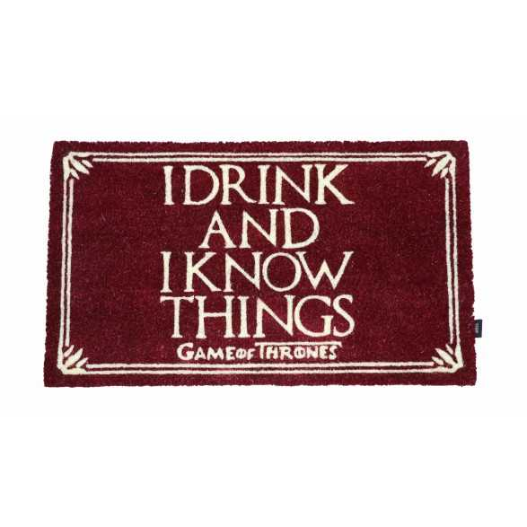 Felpudo I Drink and I know Thinks - Juego de Tronos