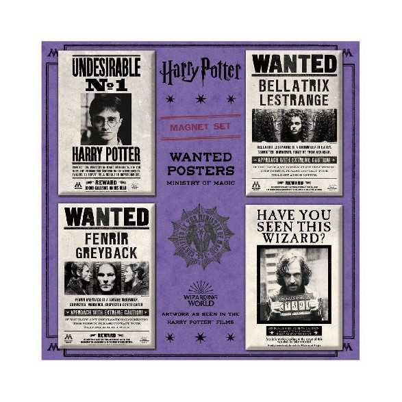 Pack de Imanes Ministry of Magic Wanted Posters