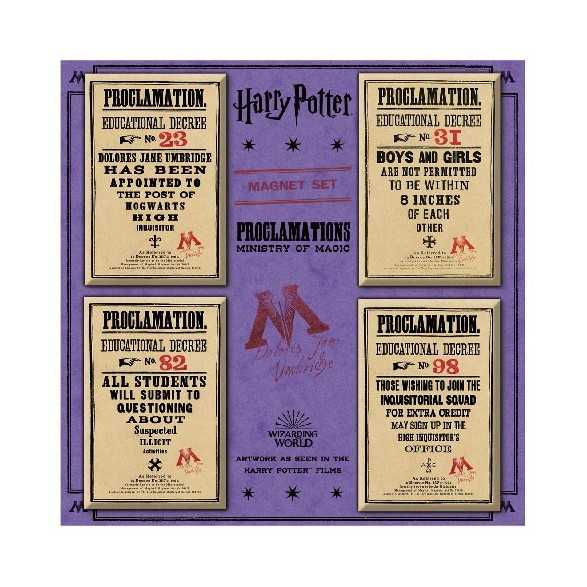 Pack Imanes Ministry of Magic Proclamations