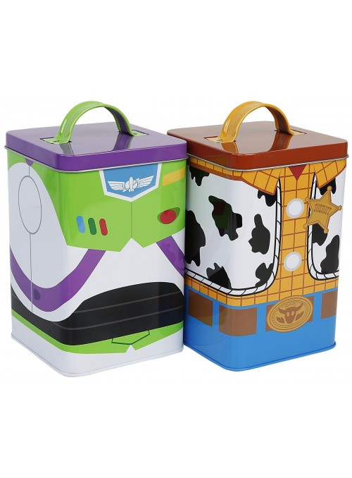 Set 2 Latas Almacenaje Buzz & Buddy - Toy Story