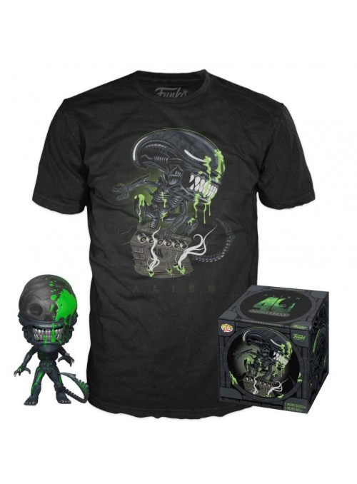 Alien POP! & Tee Set de Minifigura y Camiseta 40th Xenomorph
