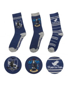 Pack 3 calcetines Ravenclaw - Harry Potter