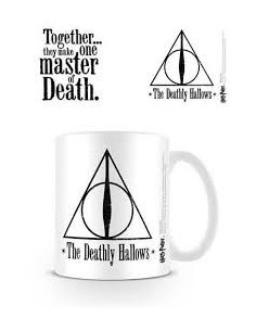 Taza Reliquias de la Muerte. The Deathly Hallows. Blanca. Harry Potter
