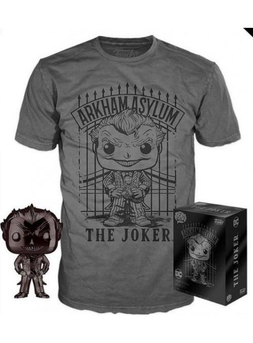 DC Comics POP! & Tee Set de Minifigura y Camiseta The Joker