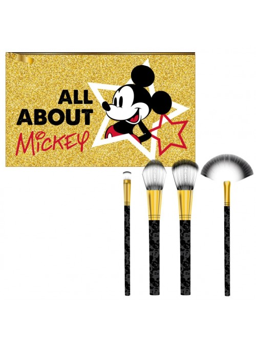 Set 4 Brochas Maquillaje All About Mickey - Disney