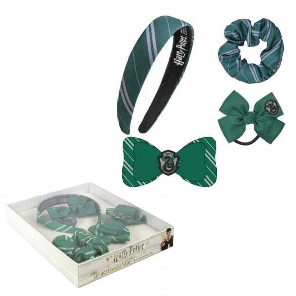 Set 4 Accesorios para Cabello Slytherin - Harry Potter