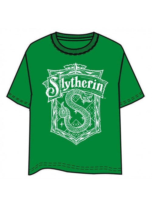 Camiseta Slytherin escudo -...