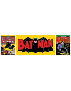 POSTER PUERTA BATMAN POP ART TRYPTYCH